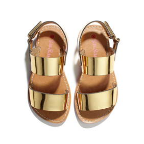 toddler girl's sandals in gold