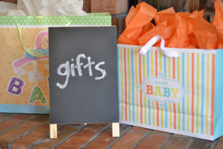 just a cute way to designate a spot for gifts at a baby shower