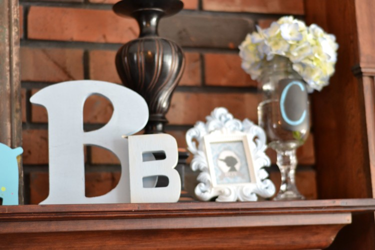 "cute little ""b"" details for a baby boy baby shower"