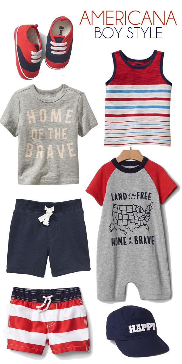 americana style for little guys - red white & blue