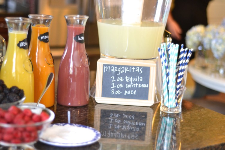 a margarita bar for a margarita-lovin' momma-to-be (who just watched, of course!)