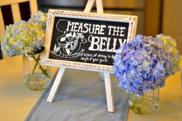 measure the belly game for a baby boy baby shower