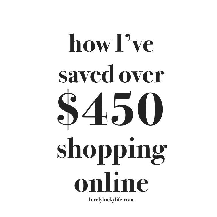 online shopping secrets to save you hundreds // lovelyluckylife.com