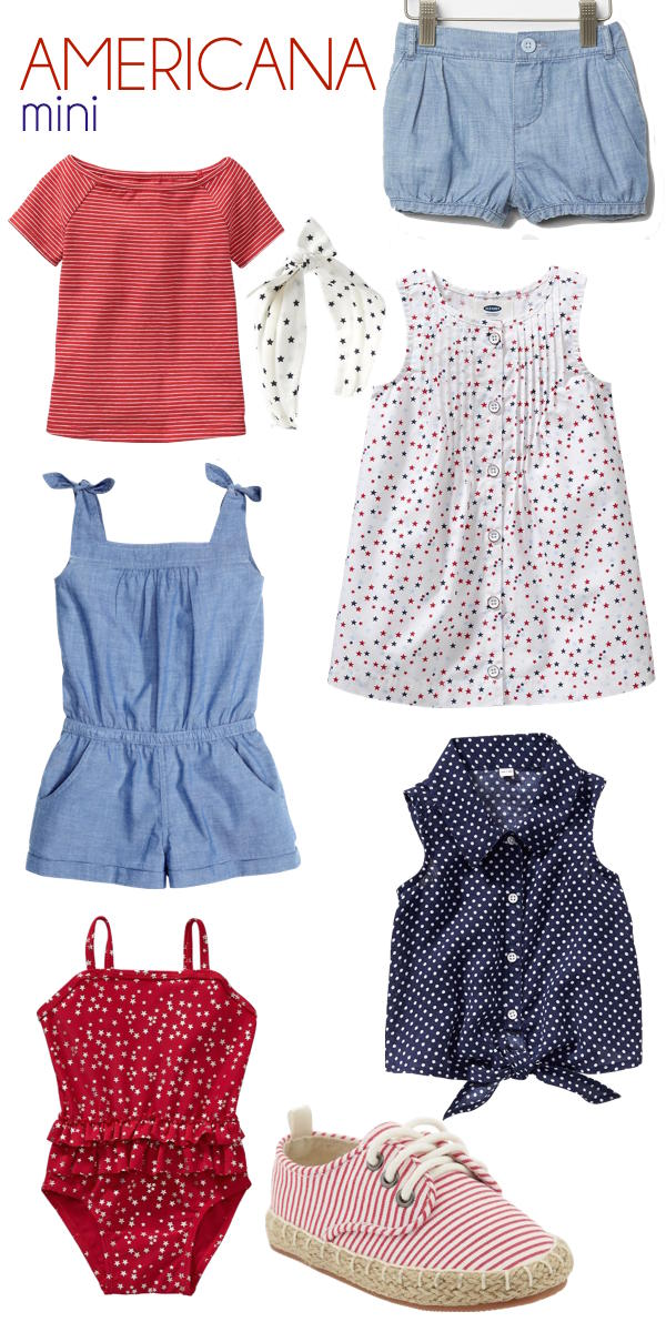 i need all these things for my little girl this summer - red white and blue style