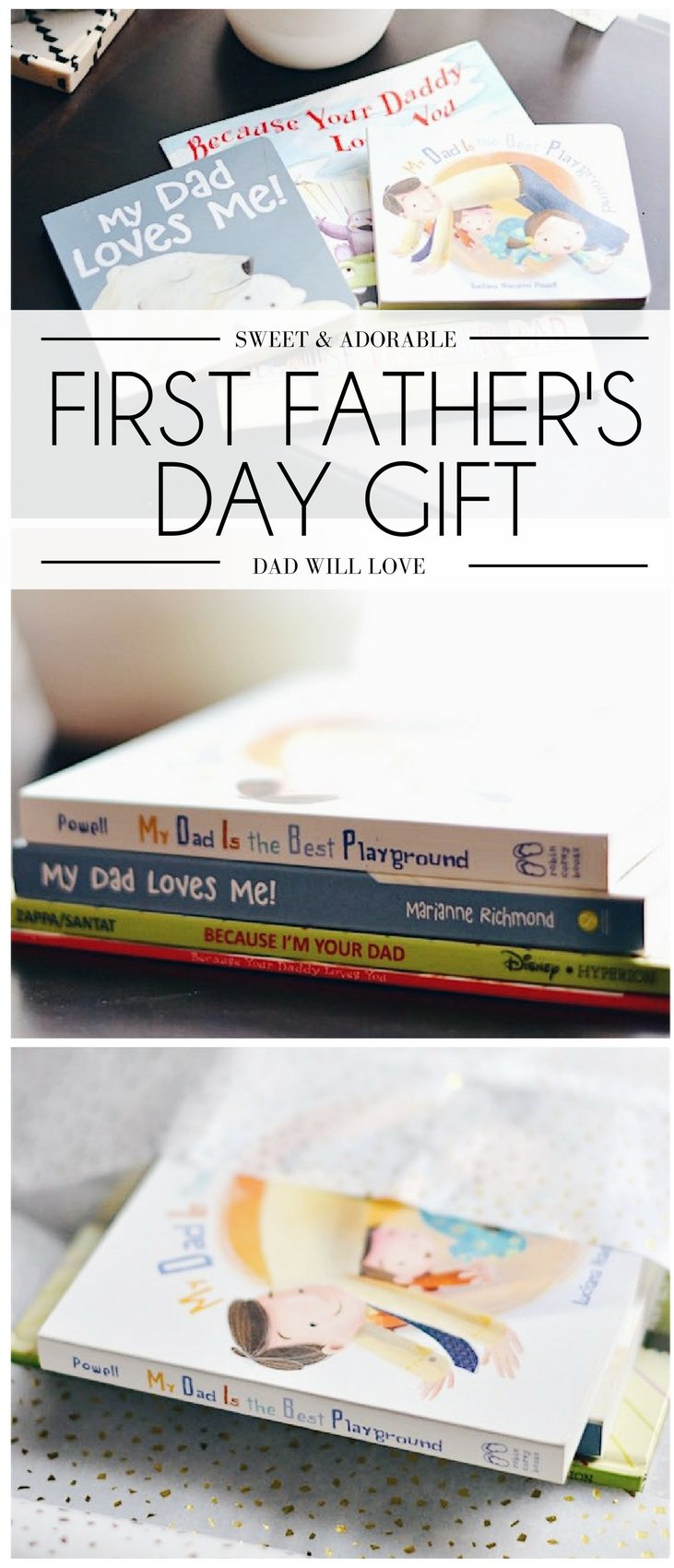 this is the best idea for a father's day gift! daddy books for the new dad . great for a first father's day gift or a gift for dad for Father's Day