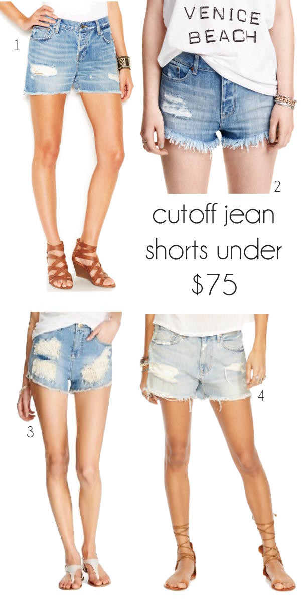 cute distressed cutoff shorts for under $75