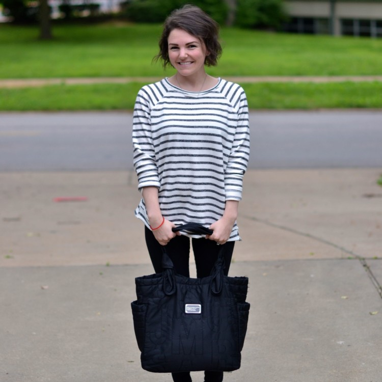 striped top & leggings - perfect weekend outfit