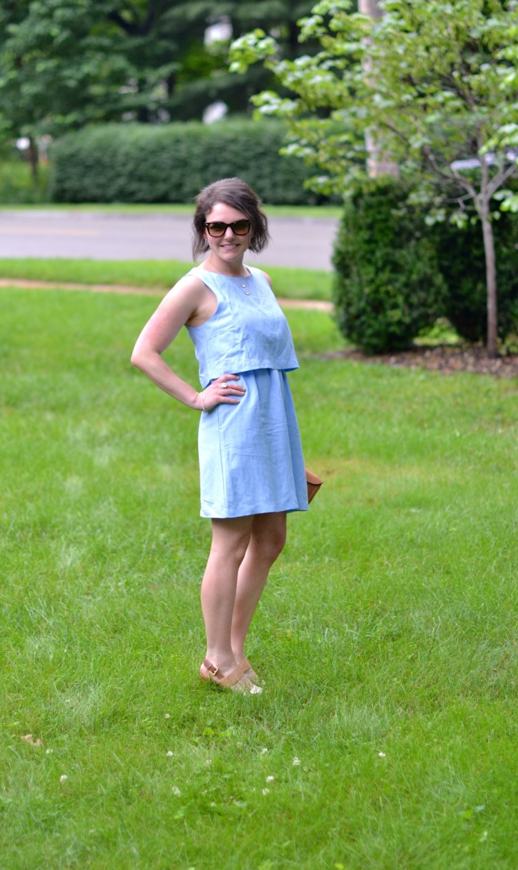 cute blue layered dress