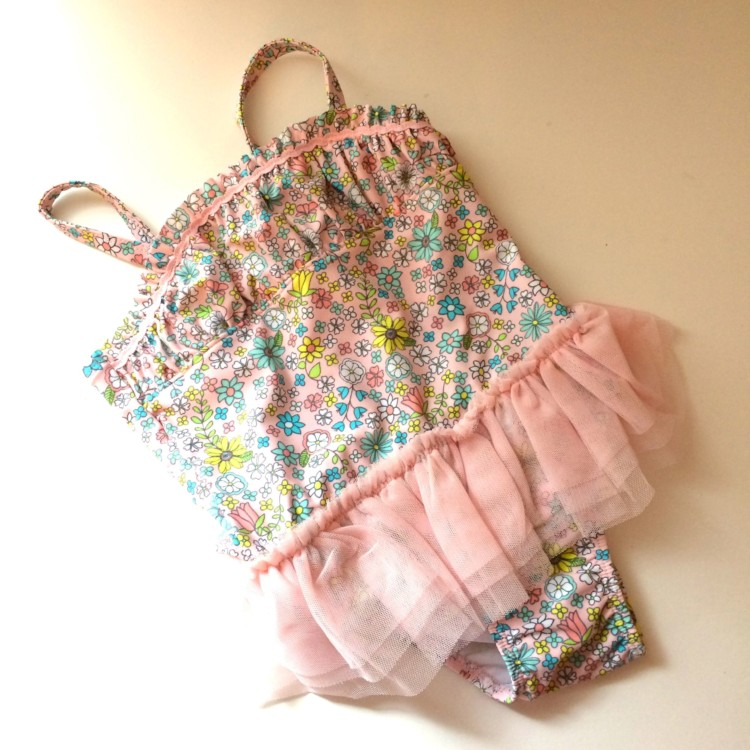 the cutest pink tutu swimsuit