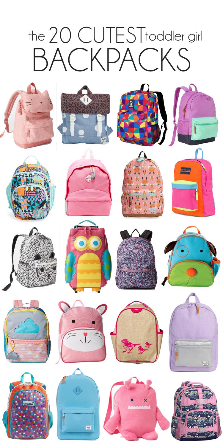 20 of the CUTEST toddler girl backpacks