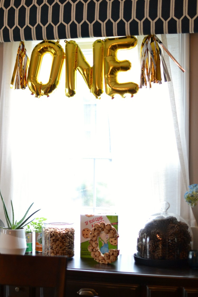 cute milk & cookie themed birthday party decor