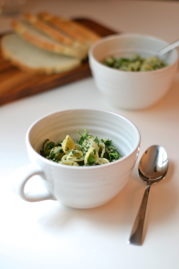 easy and delicious - spinach pea pasta