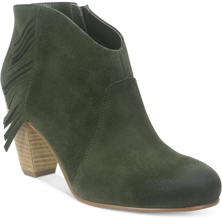 love these olive fringe booties