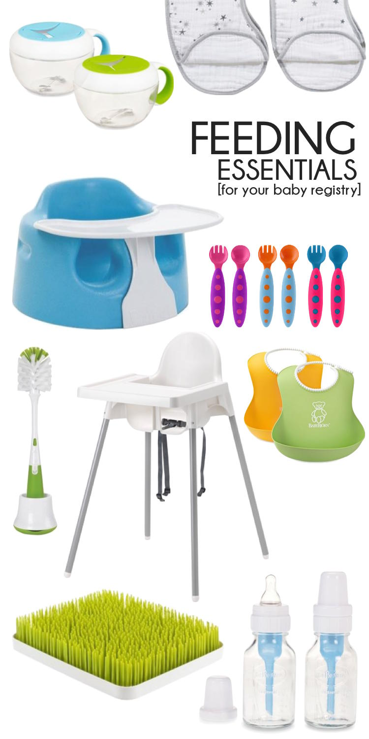 essentials for feeding baby - put these on your registry! // lovelyluckylife.com
