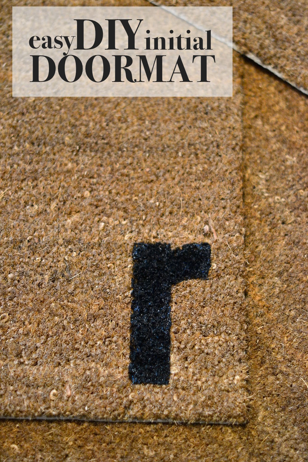 this makes a great housewarming gift - DIY custom initial doormat how-to // lovelyluckylife.com
