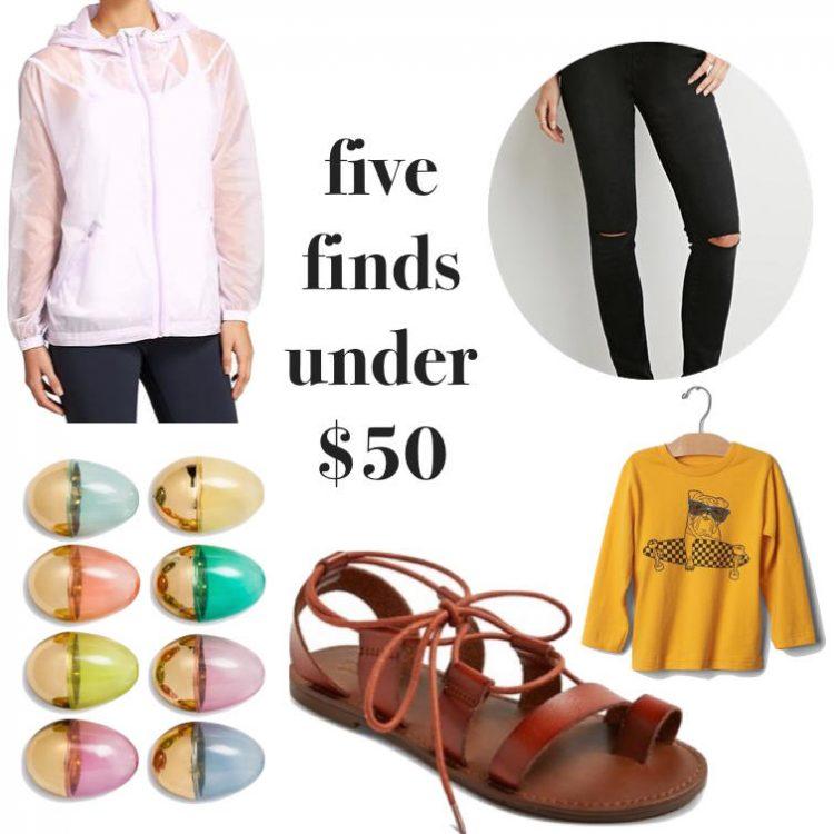 five finds under $50