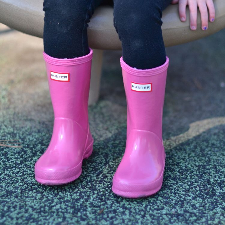the cutest pink hunter boots for girls