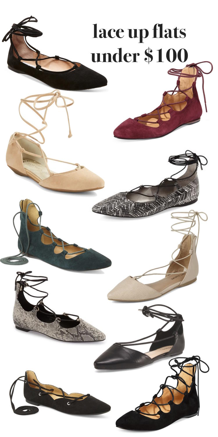 these are the best lace up flats under $100 - lace up flats are the perfect shoe for busy moms! // lovelyluckylife.com