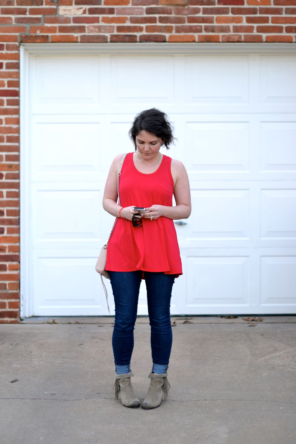 pinkblush Swingy Red Tank Top