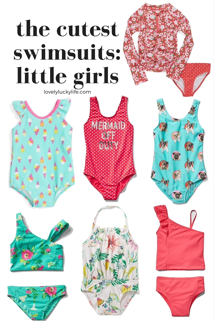 Cute Swim Suits for Little Girls // lovelyluckylife.com