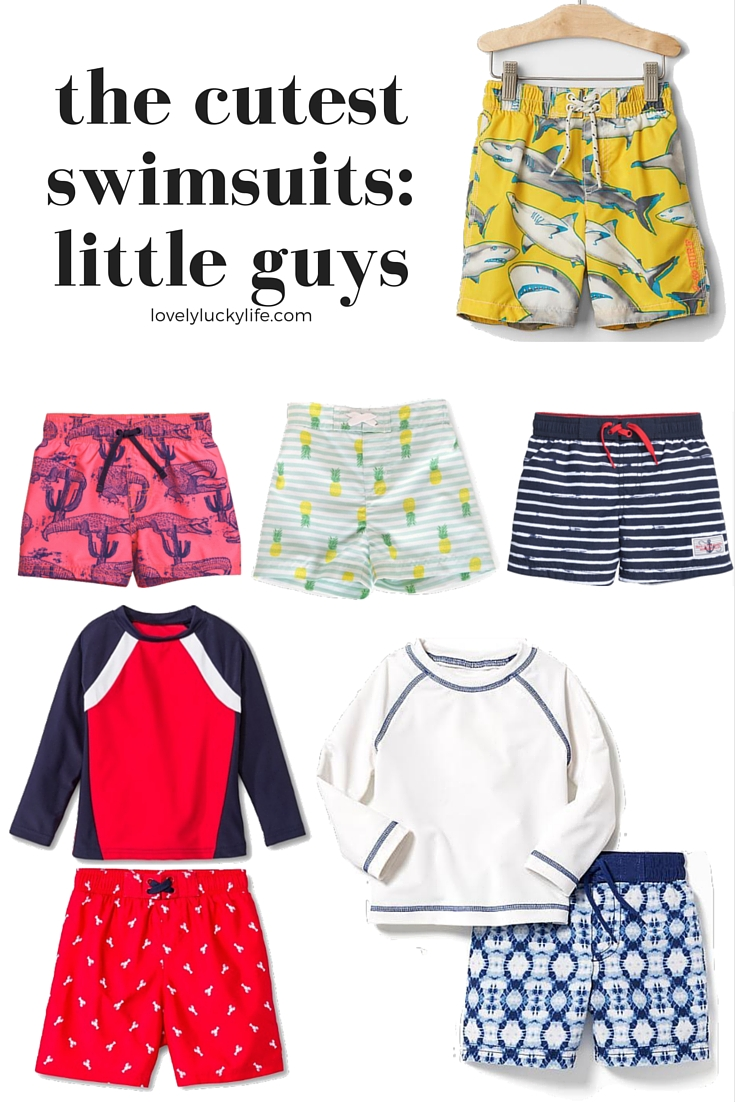 Cute Swim Suits for Little Guys // lovelyluckylife.com