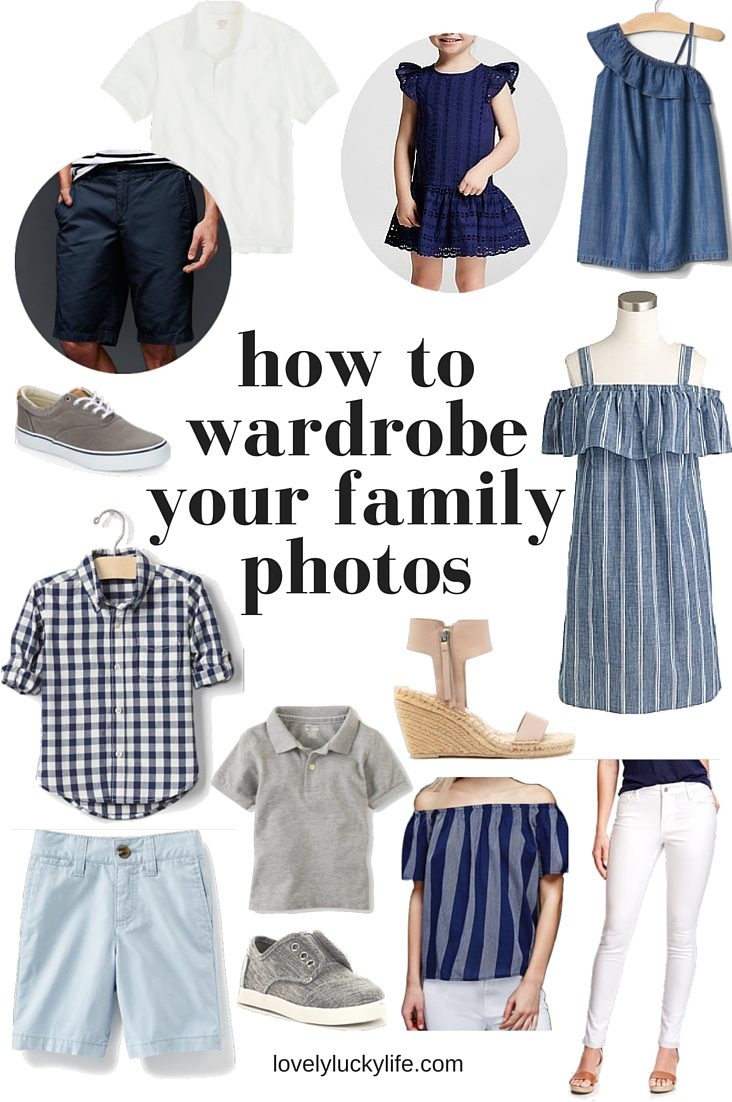 how to wardrobe your family photos // this is what to wear for family pictures