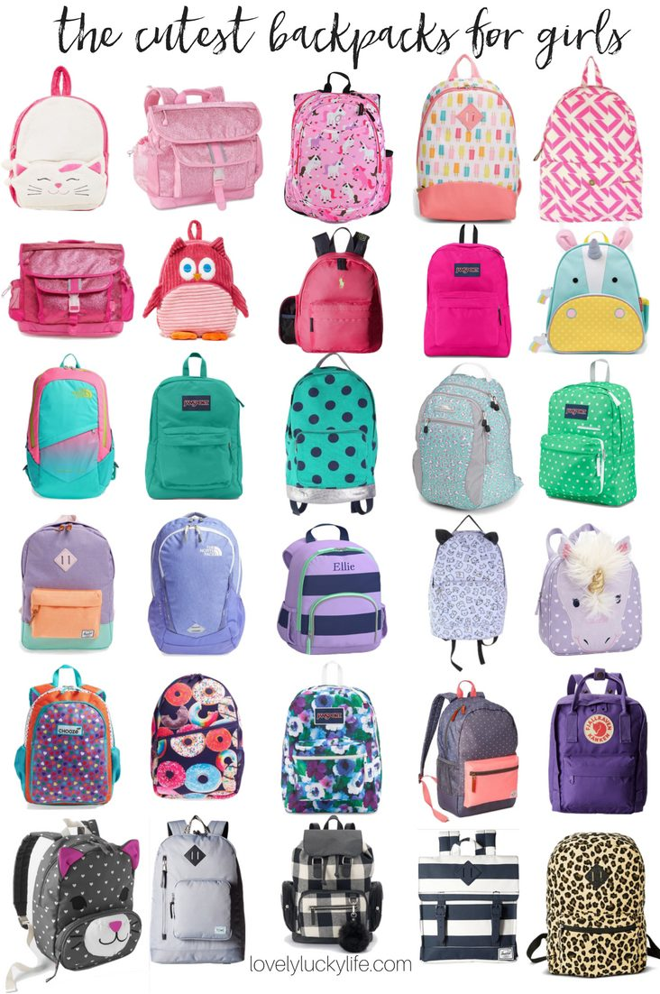 Back to School! Cute Backpacks for Girls - Lovely Lucky Life
