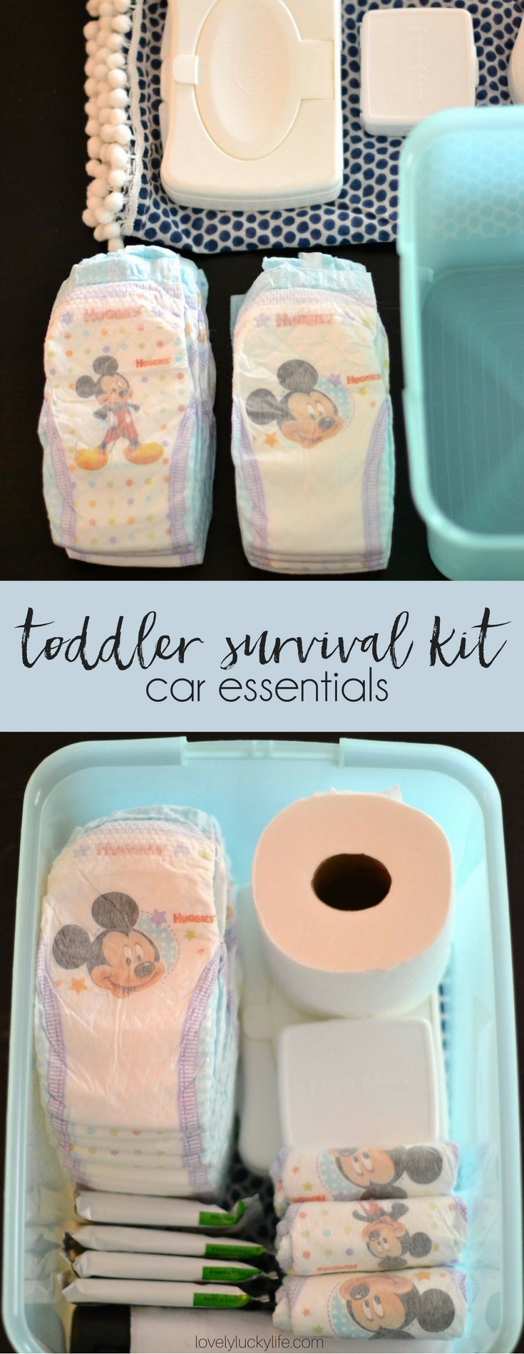 Essentials Every Mom of Toddlers NEEDS in Her Car // DIY toddler survival kit for the car