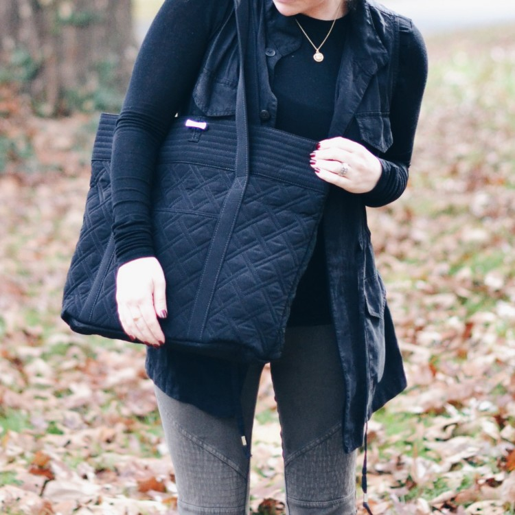 Mom Must-Have: Quilted Vera Bradley Black Bag