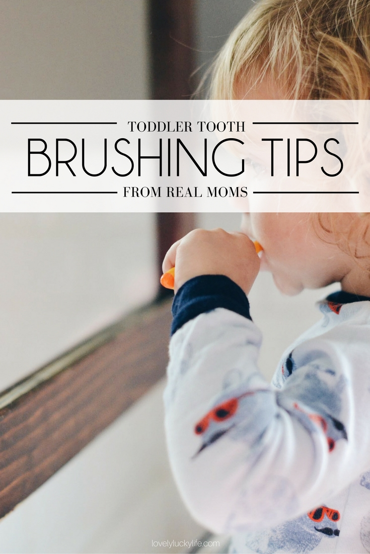 toddler teeth brushing advice from real moms - these are the tips to get your stubborn toddler to brush his teeth without a tantrum