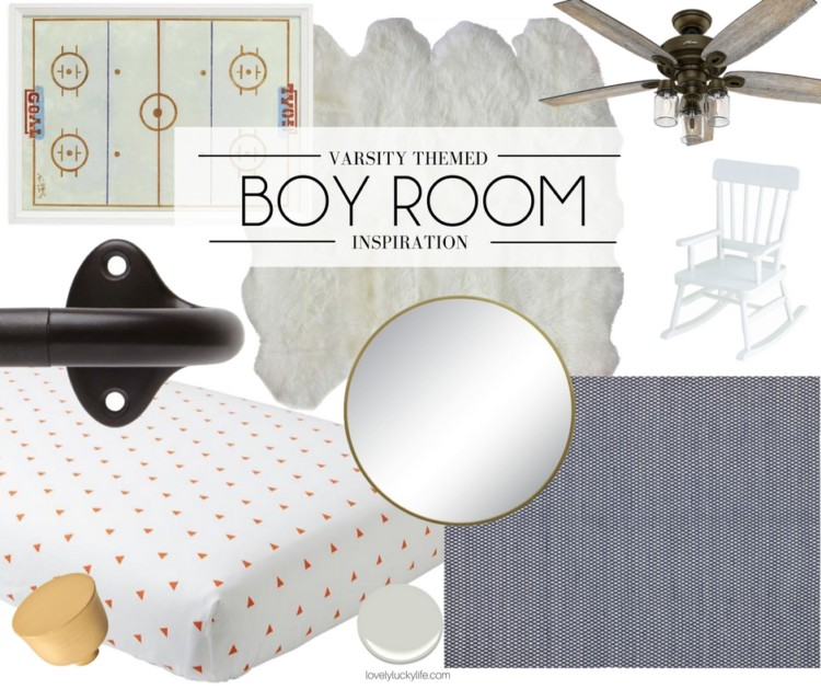 big boy room inspiration - sports themed boy room