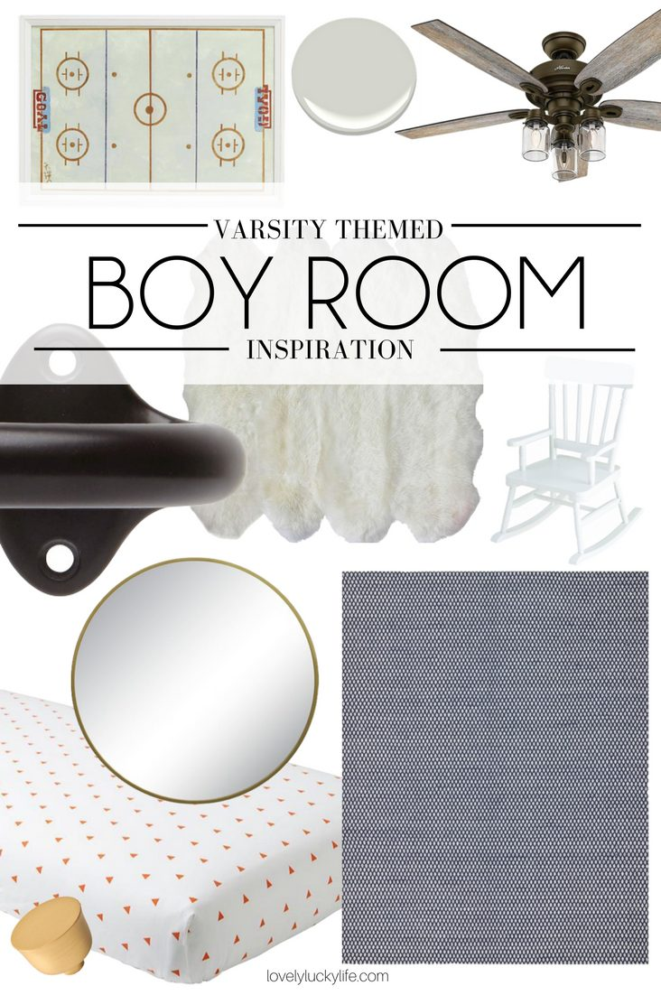 varsity themed Toddler Boy Bedroom Inspiration - this room theme is great for a boy of any age without being too theme-y. classic boy room idea!