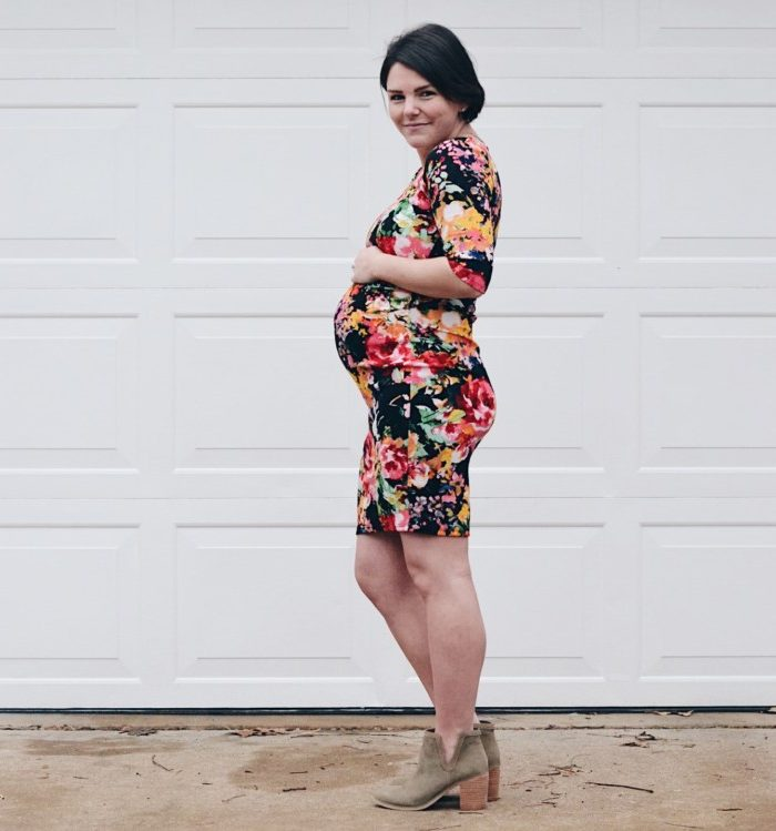 36 Week Bumpdate + Floral Maternity Dress