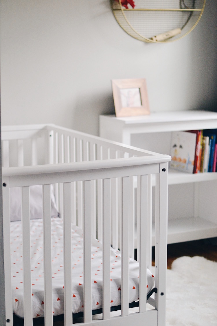 baby boy nursery inspiration - love the colors in this boy room and the white crib that's under $200