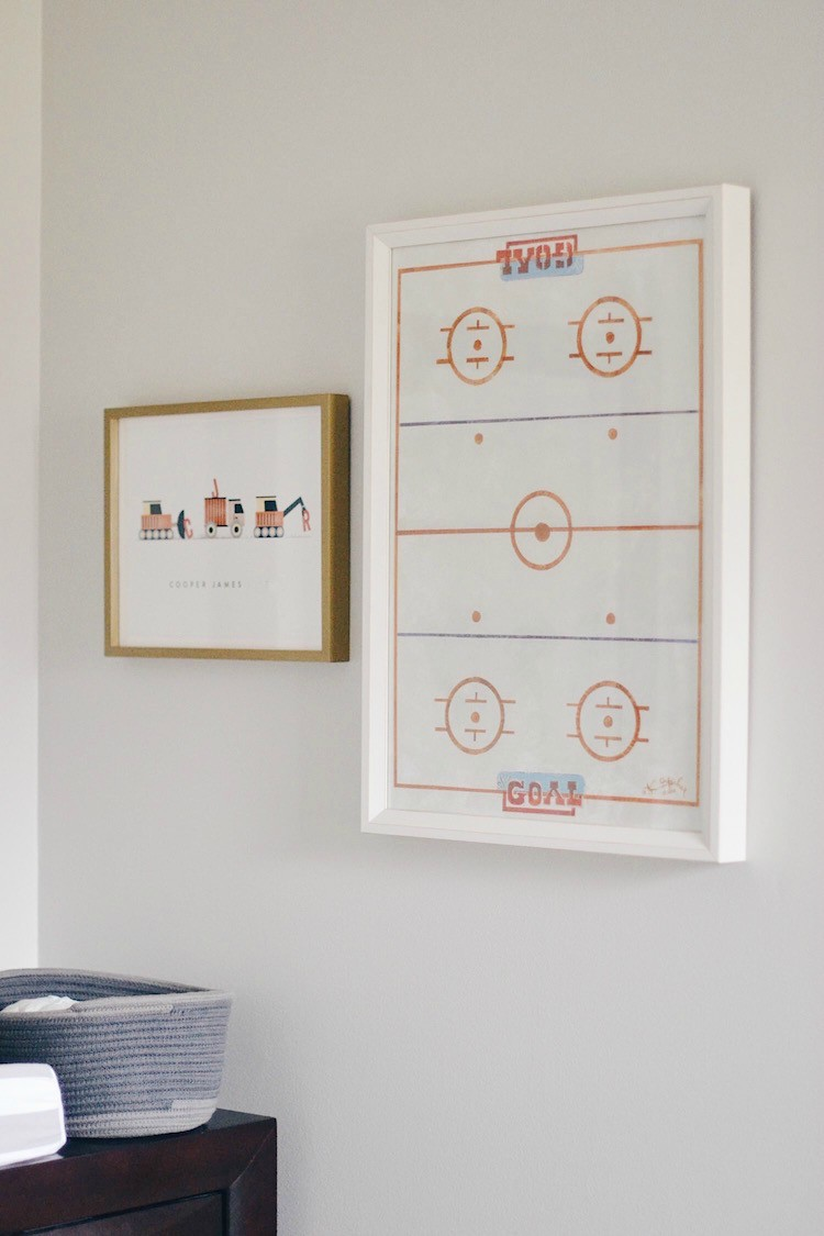 boy room wall art - hockey print & personalized art from Minted