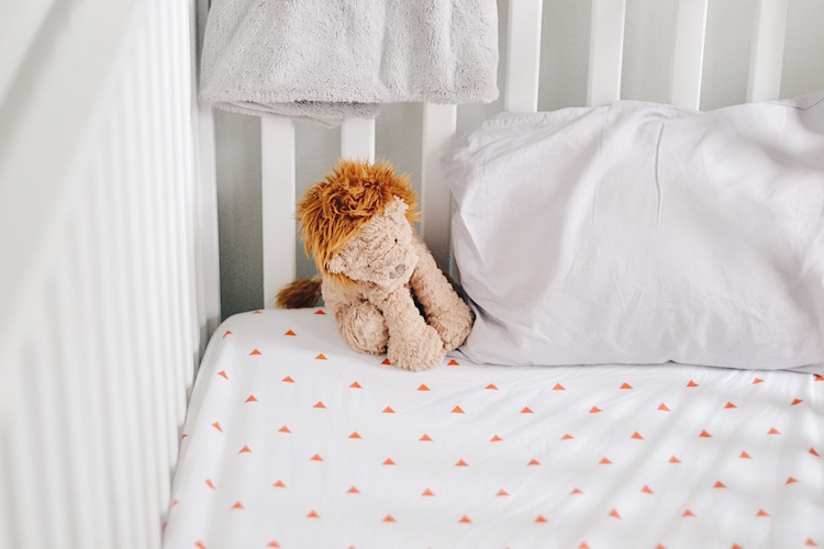 boy room bedding - orange and grey boy's room