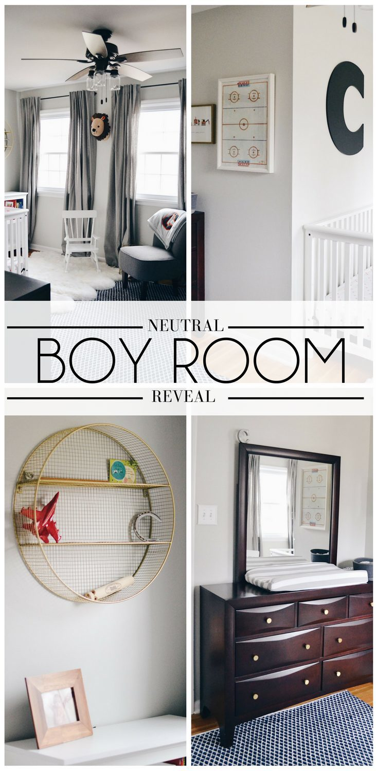 love this for a big boy room! great boy room colors & boy room theme - grey kids room with navy and orange accents