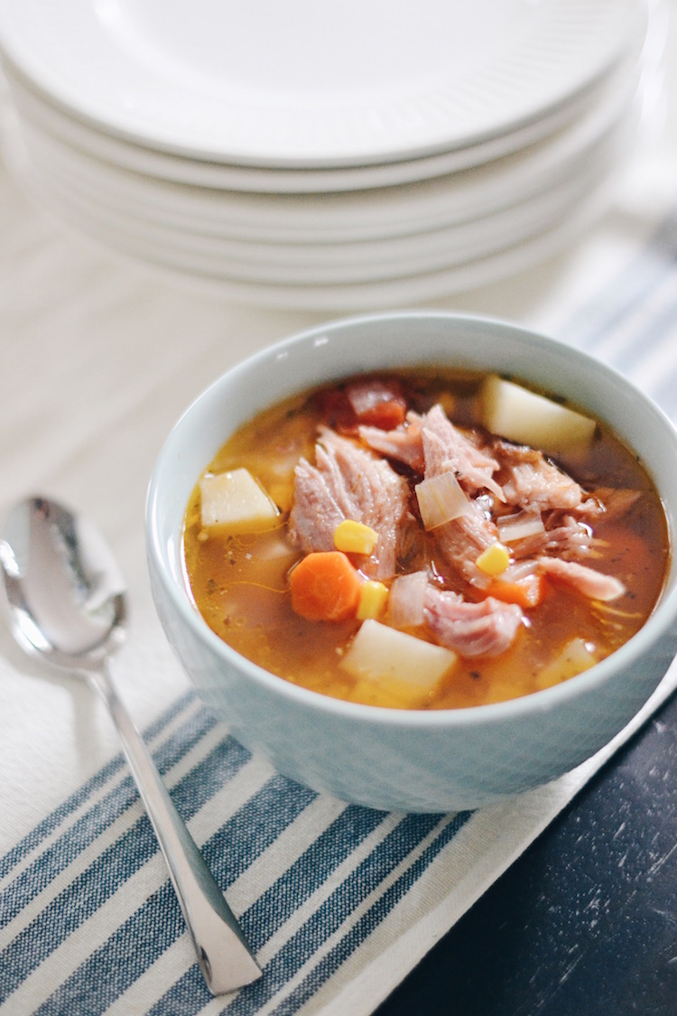 Slow Cooker Soup Recipe with Ham Bone