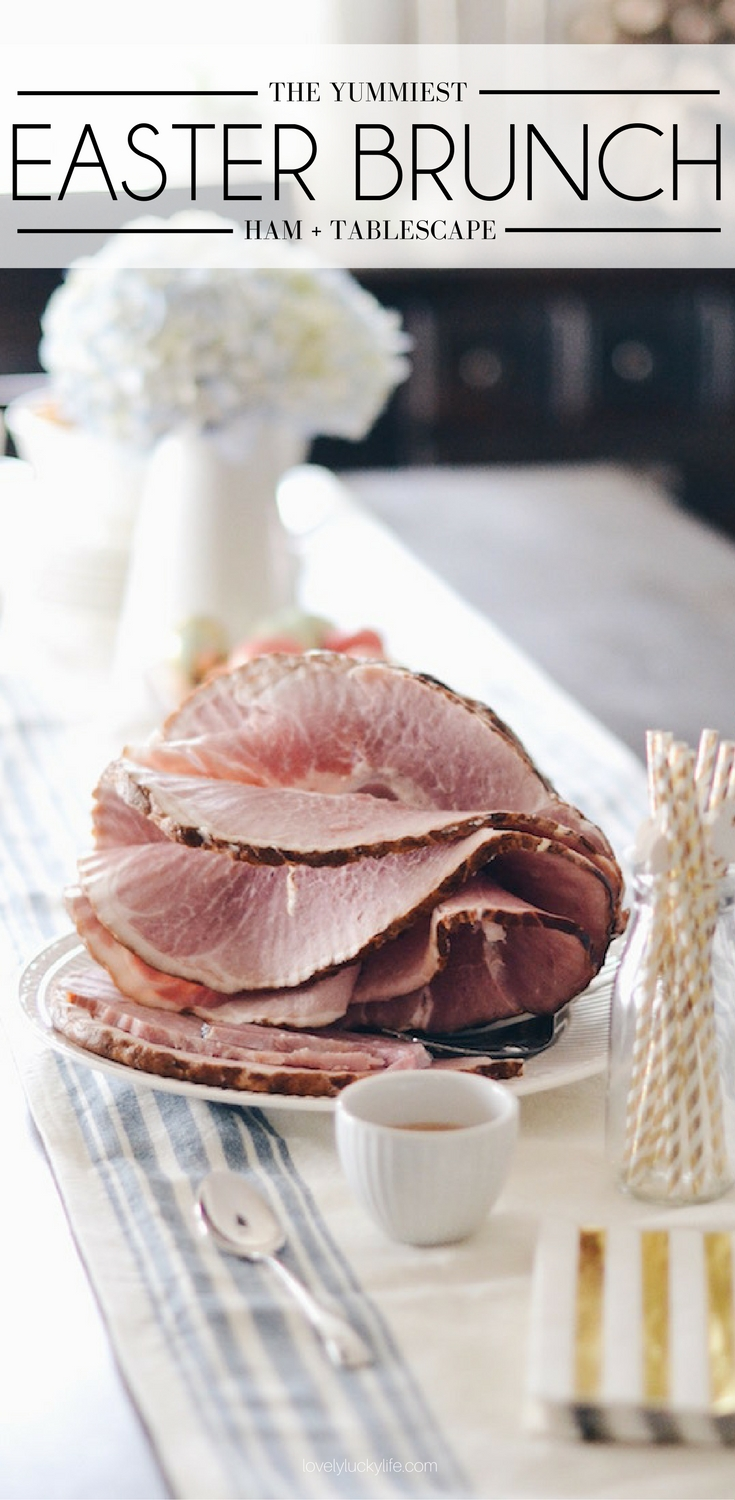 the best ham for Easter brunch + a pretty Easter tablescape