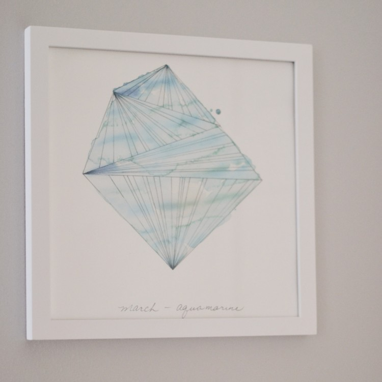 the prettiest birthstone art - perfect as nursery decor, a baby gift or a birthday gift