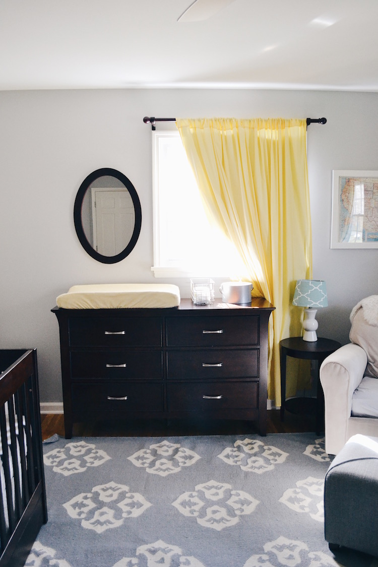 changing table station in a gender neutral nursery