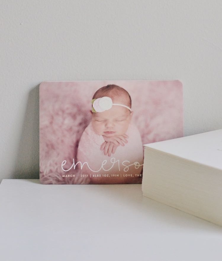 birth announcements from Minted