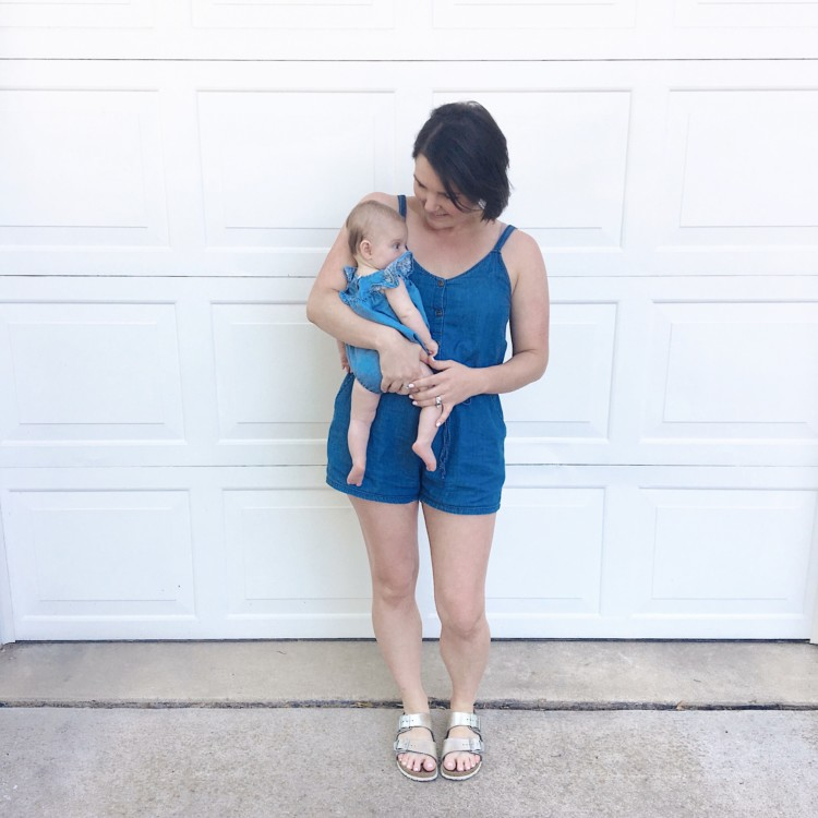 Nursing-Friendly Rompers for Moms