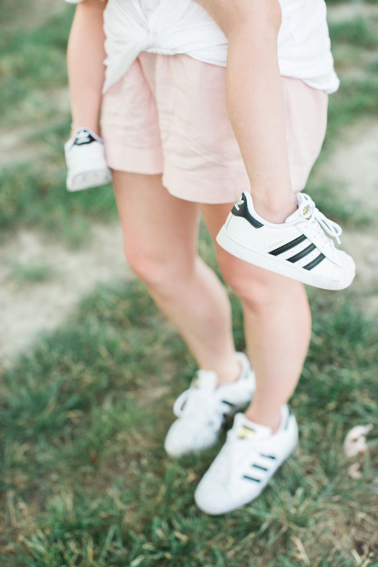 2f8ca405aa1e53 mommy and me Adidas Superstar sneakers - the cutest sneakers for moms