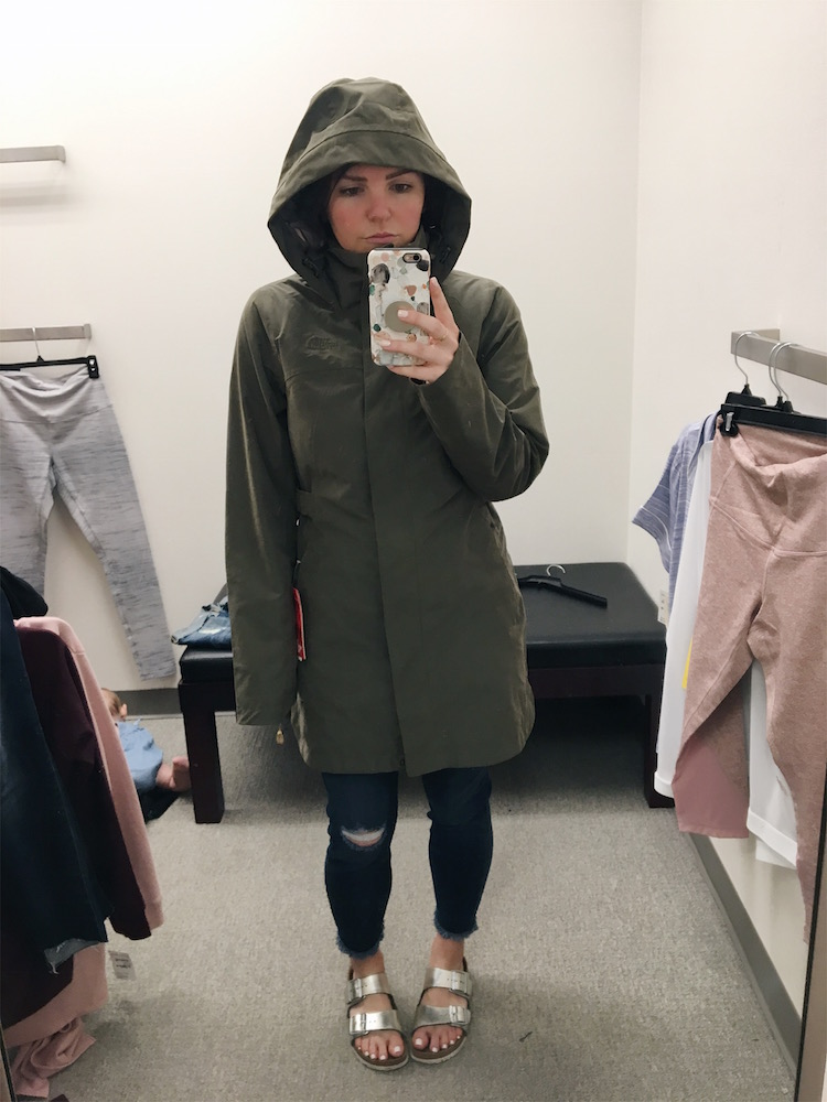 North Face Laney Trench Raincoat // Nordstrom Anniversary Sale Dressing Room Diaries
