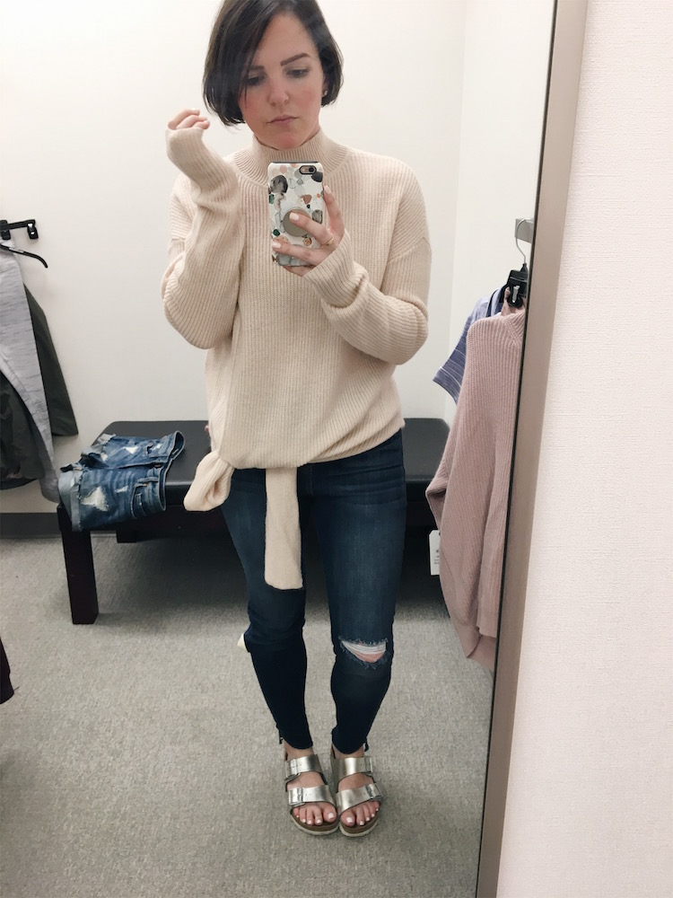 Halogen Tie Hem Sweater // Nordstrom Anniversary Sale Dressing Room Diaries