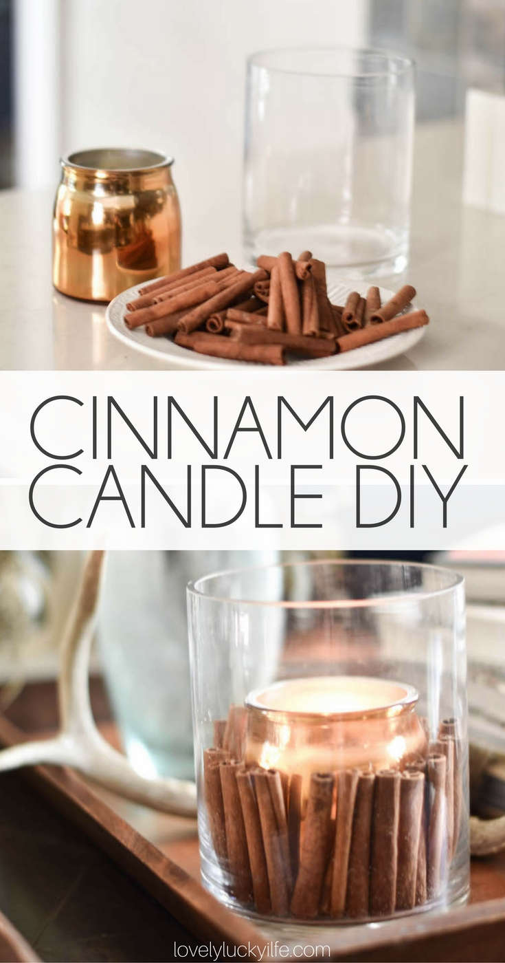 the easiest cinnamon candle DIY - such a great way to add a little fall to the house