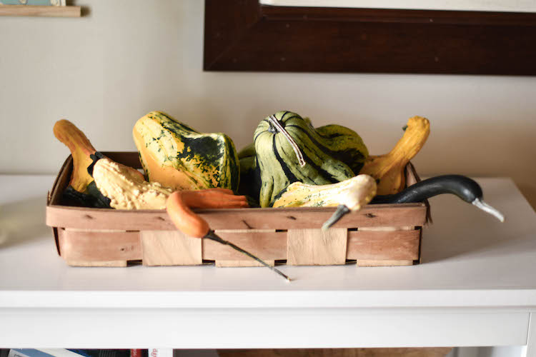 gorgeous gourds - love using fresh stuff for fall decor