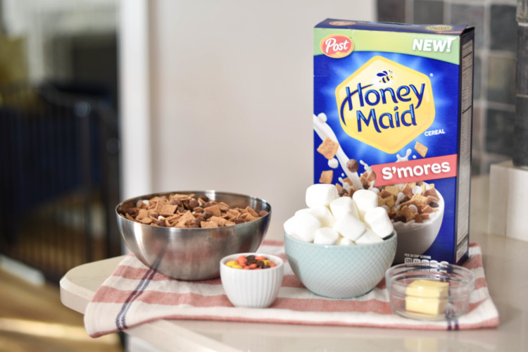 all you need for delicious s'mores bars