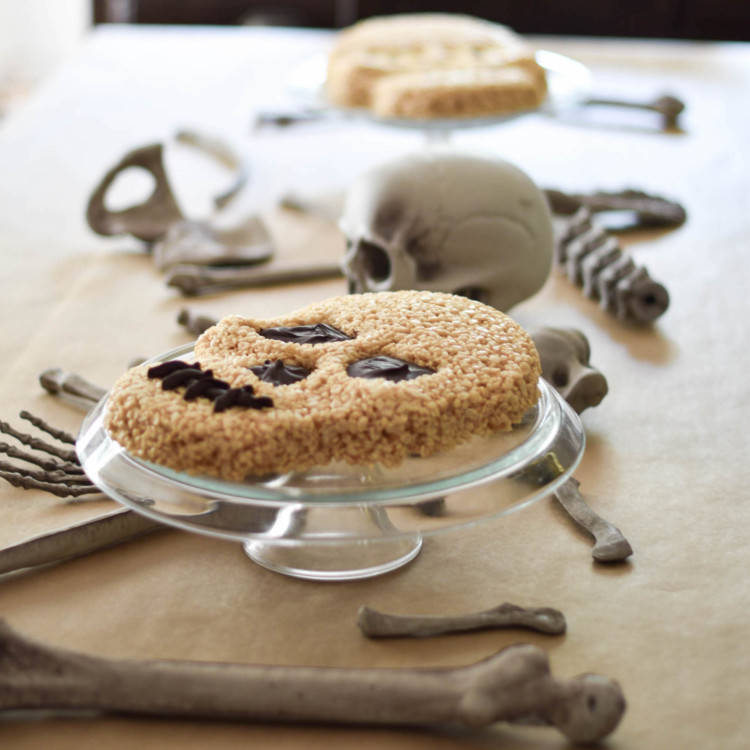 DIY Skeleton Rice Krispie Cake
